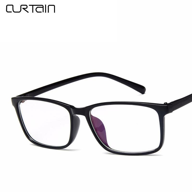 f2d450c5529 2018 Fashion Retro Square Eyeglasses Frame Men Women Vintage Optical  Spectacle Glasses Tinted Frame Clear Lens