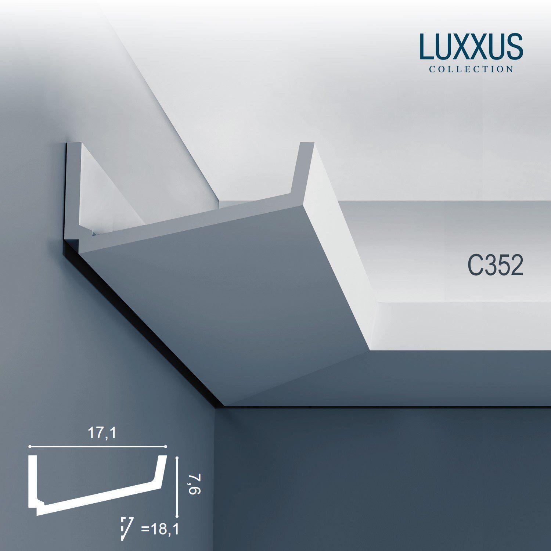 Orac Decor C352 Luxxus Wand Decken Profilleiste Stuckgesims Zierleiste Eckleiste Fur Indirekte B Indirekte Beleuchtung Beleuchtung Beleuchtung Wohnzimmer Decke