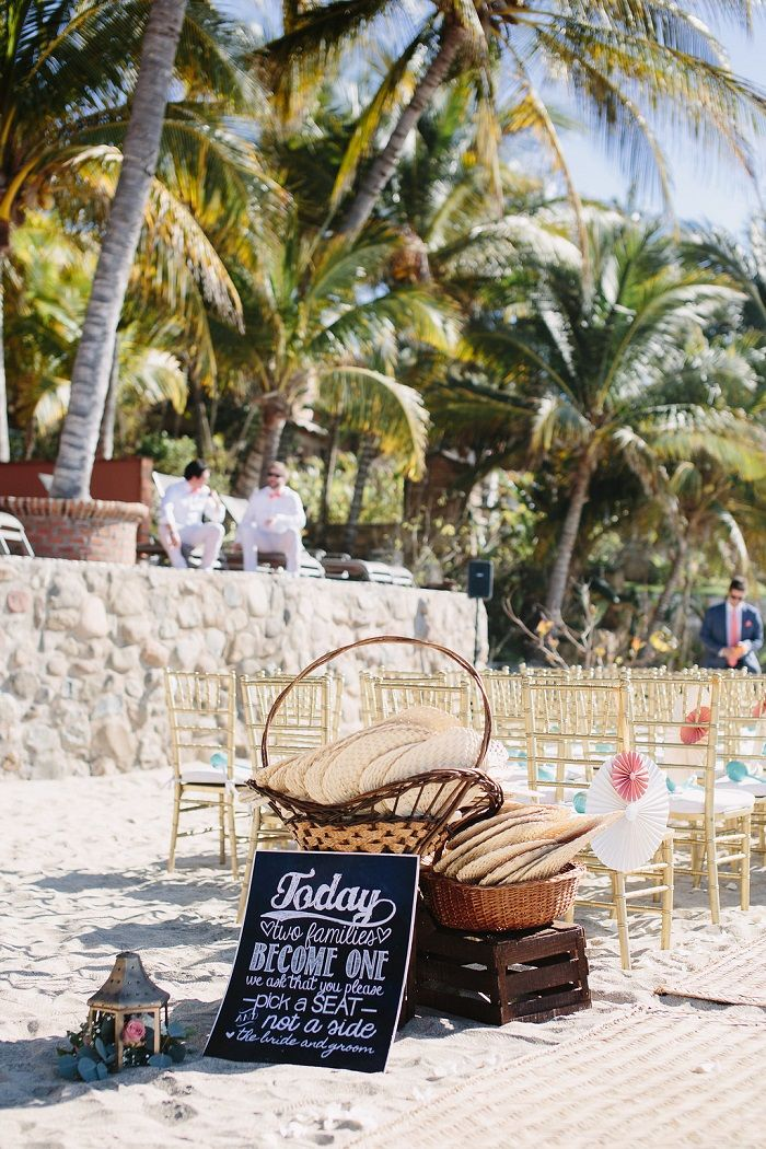 Beach Wedding Ceremony decoration | fabmood.com #beachceremony
