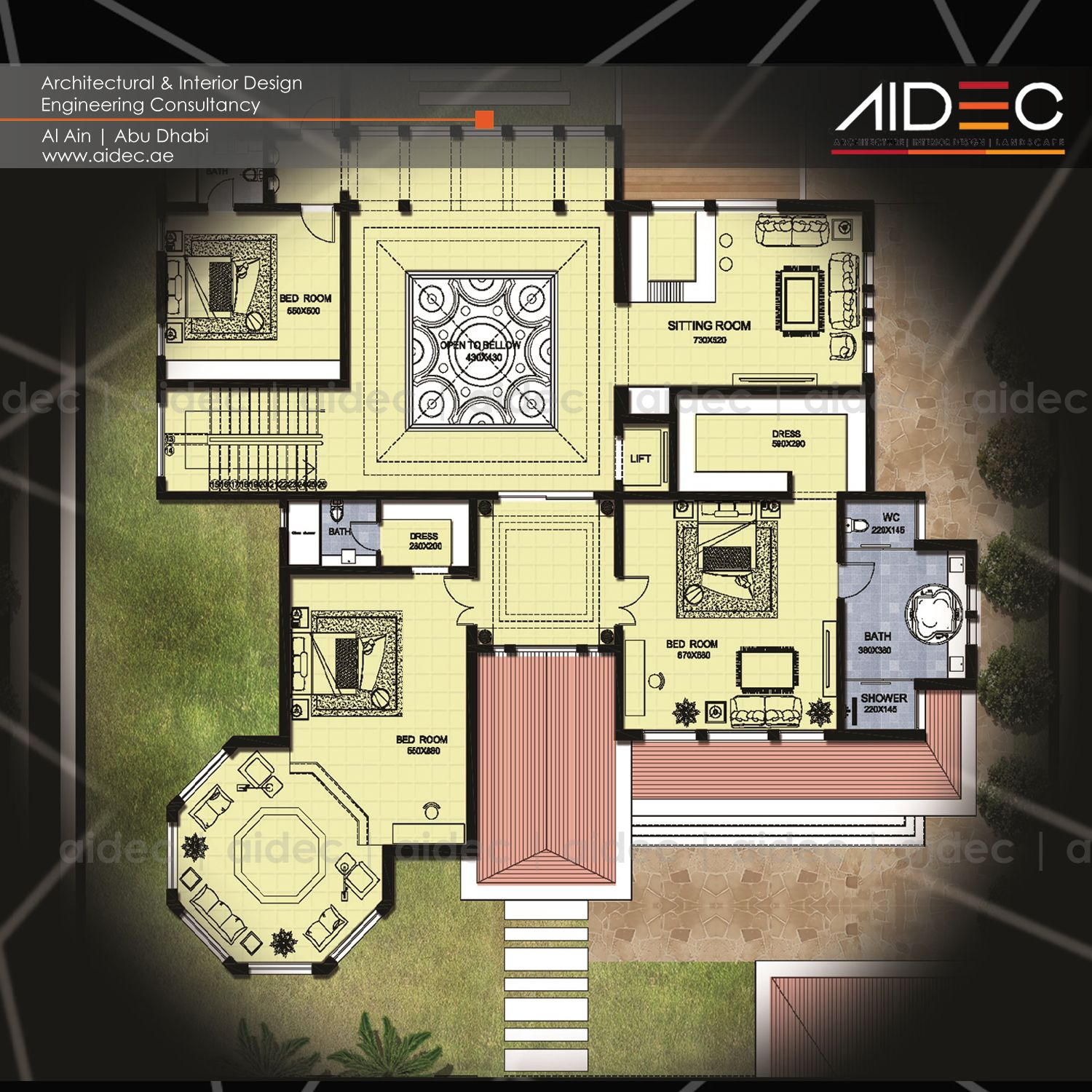 Proposed Residential Villa Floor Plan Location Abu Dhabi Aidec Architecture Design Villa Bui Beautiful House Plans Villa Plan Floor Plans