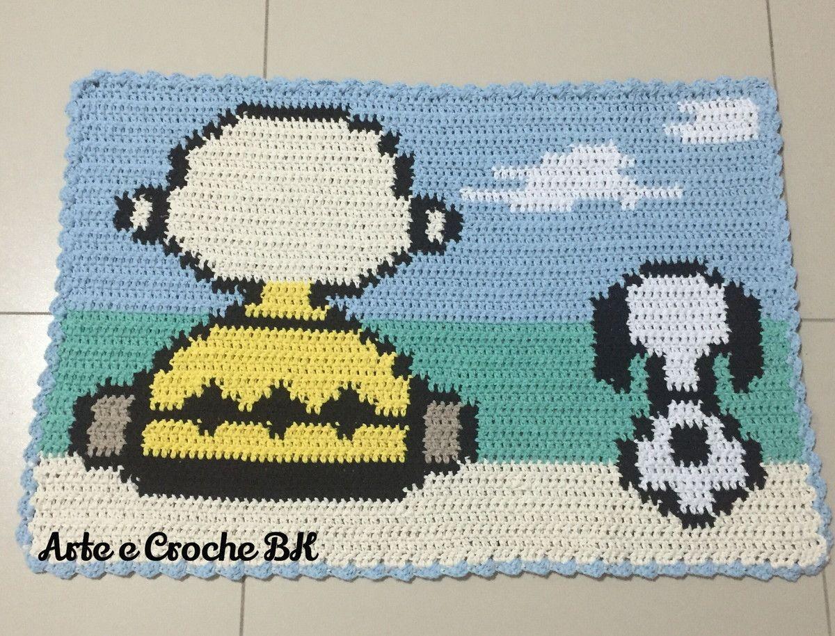 Tapete Croche Snoopy E Charlie Brown Croche