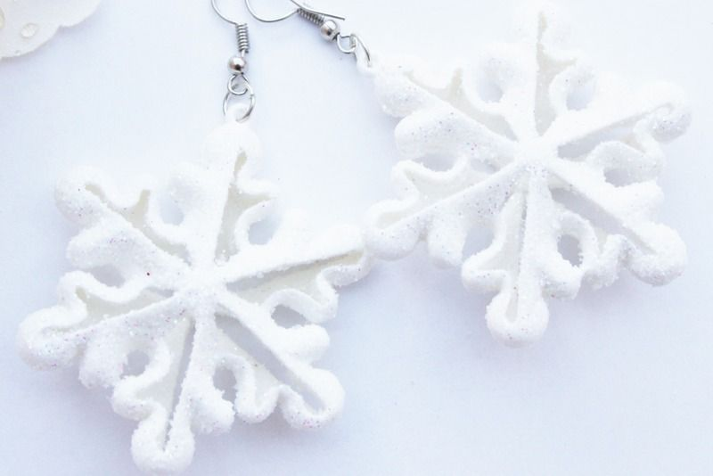 Ohrringe Eiskristalle von Dany-cards-and-more auf DaWanda.com