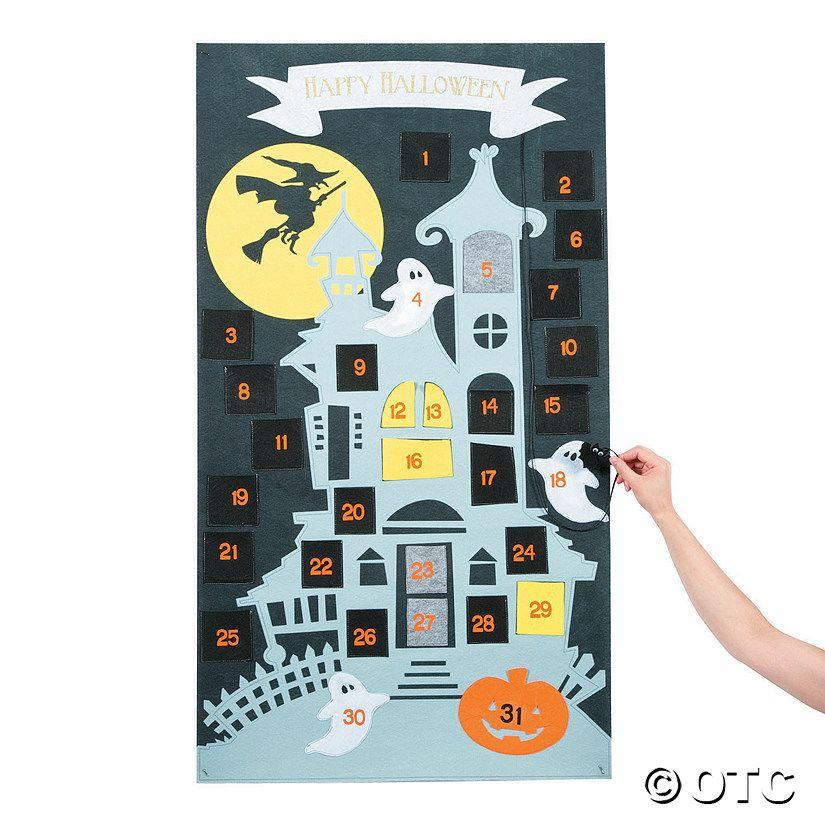 Countdown calendar halloween decoration oriental trading