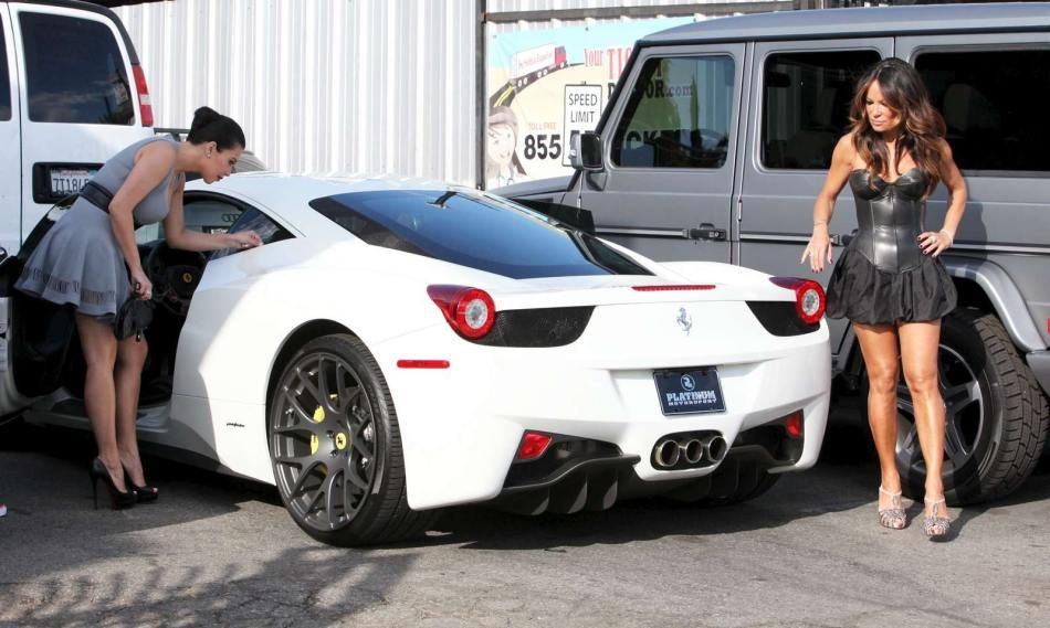 Kim Kardashian Adds $300,000 Ferrari 458 Italia to her Luxury Cars ...