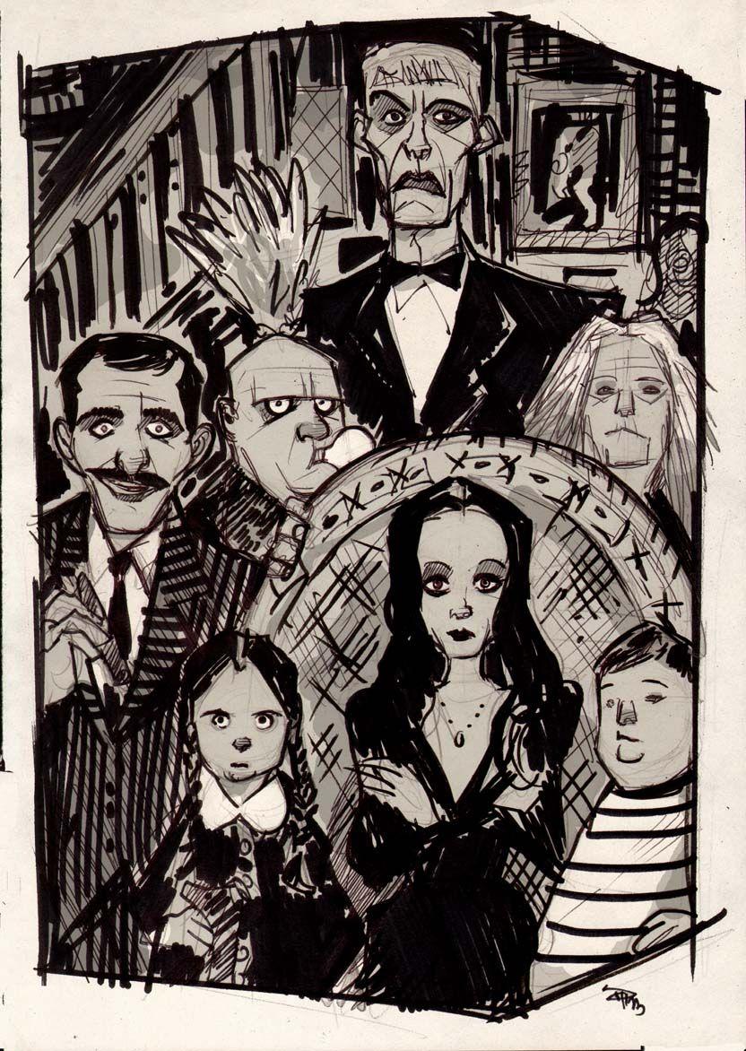 Missaddamsfamily Family Cartoon Family Art Addams Family
