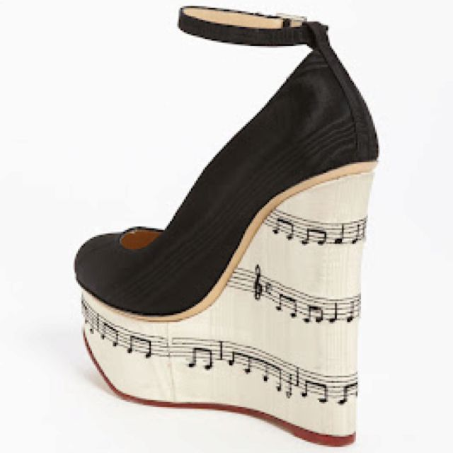 Charlotte Olympia 'Music Note' Wedge