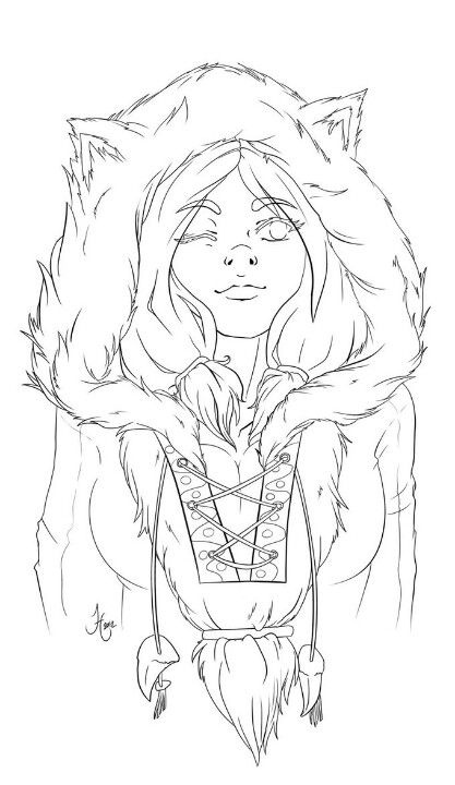 Girl Hoodie Coloring Books Cute Coloring Pages Art Sketches