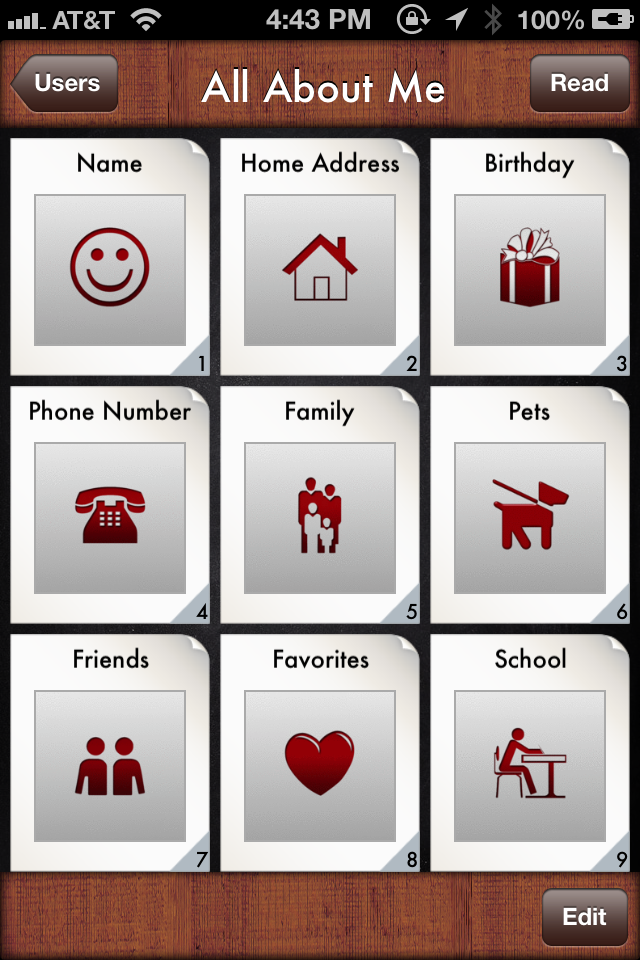 All About Me Storybook Special Needs App All About Me