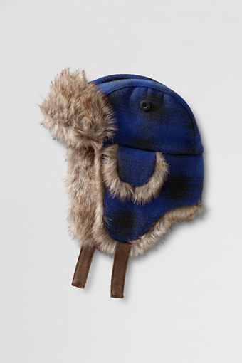 b294623e28231 Boys  Faux Fur Lined Trapper Hat from Lands  End - E