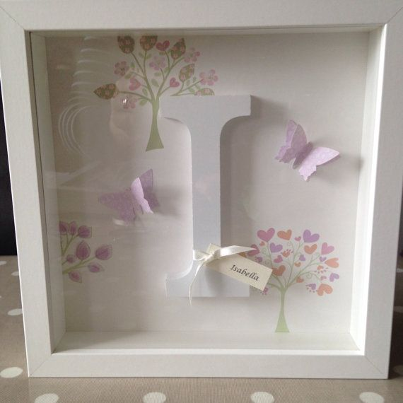 Personalised Wooden Letter Name Frame - Laura Ashley Bella Butterfly ...
