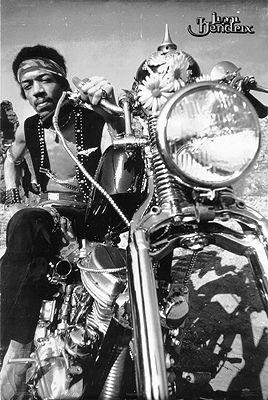Jimi Hendrix and HD Harley Davidson Panhead b55b213af
