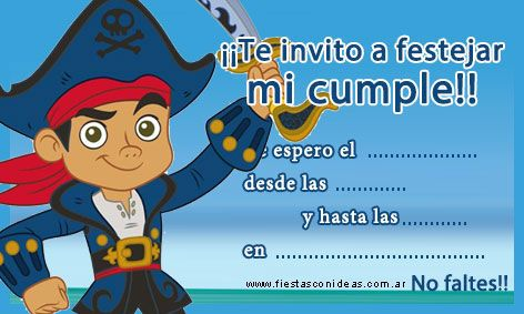 Capit n jake nueva tarjeta de cumplea os para imprimir for Yei y los piratas de nunca jamas