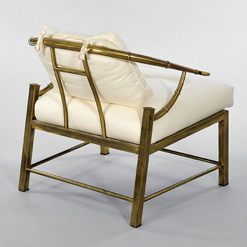 Bamboo Chairs For Sale Chair Covers Party Pair Of Brass Faux By Mastercraft Image 4 Seat
