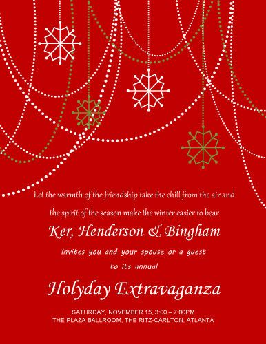 Holyday Extravaganza Invitation - Free Invitation Template Ideas - christmas dinner invitations templates free