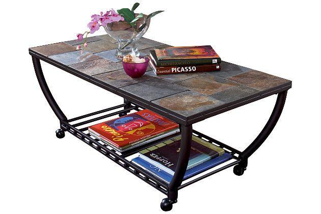 Black Antigo Coffee Table View 2 Living Room Black Coffee