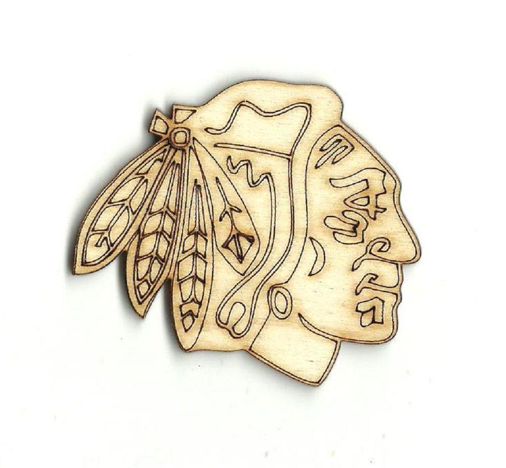 Chicago Blackhawks Engraved Laser Cut Unfinished Wood Shapes ...