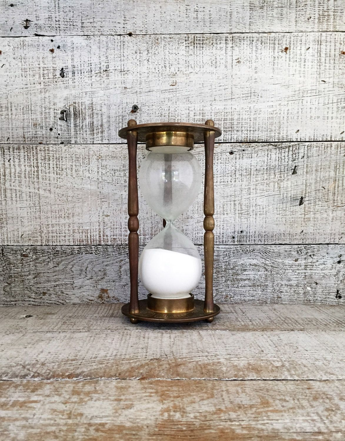 Hourgl Br Hour Gl Sand Timer Large Zodiac 1 Mid Century Office Decor Bookend By