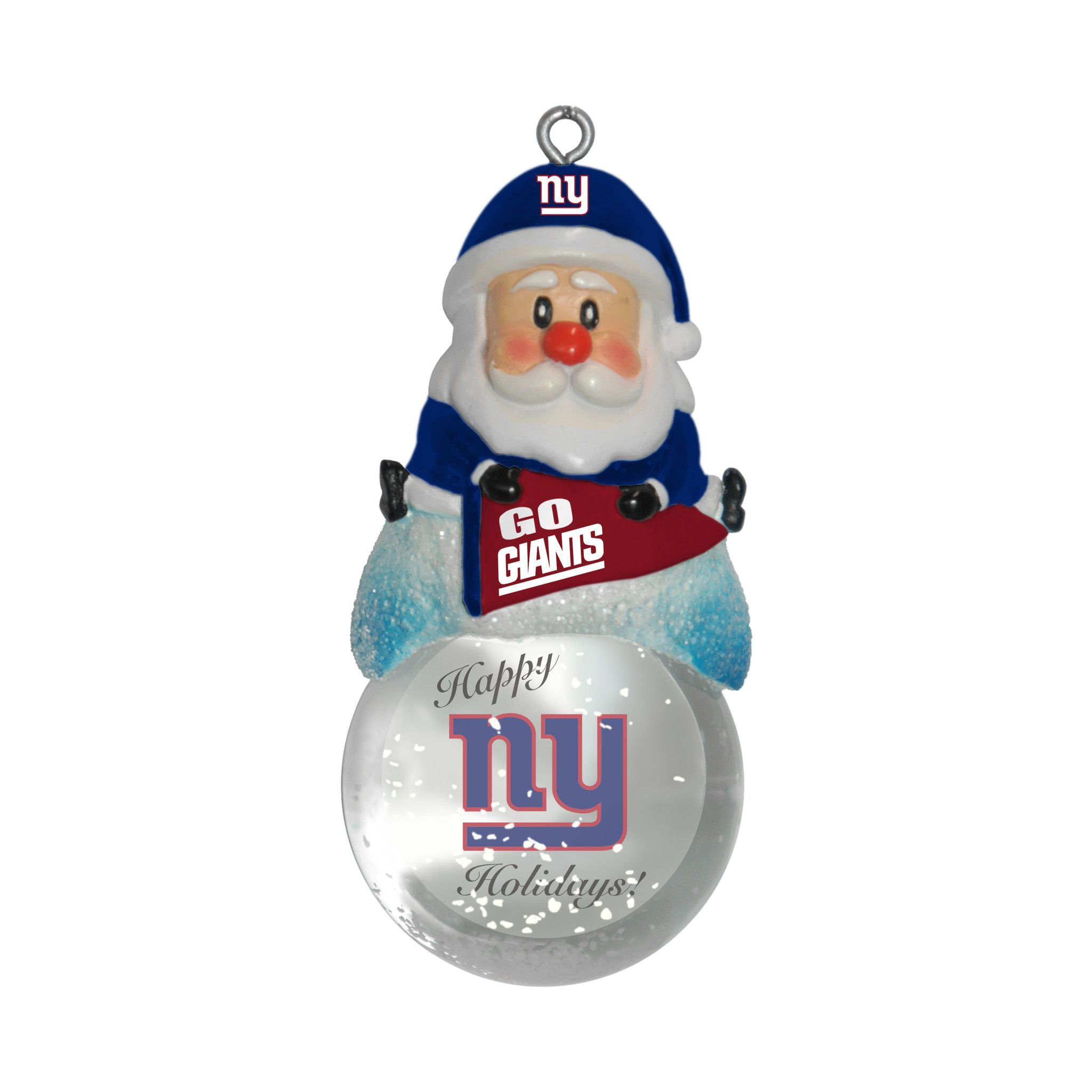New! New York Giants Ornament - Santa Snow Globe #NewYorkGiants ...