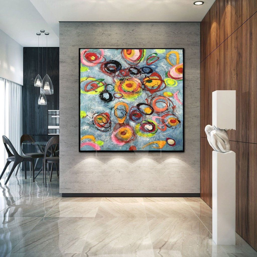 Abstract     Large Abstract Painting On Canvas Colorful Painting Contemporary Painting | SUMMER EUPHORIA