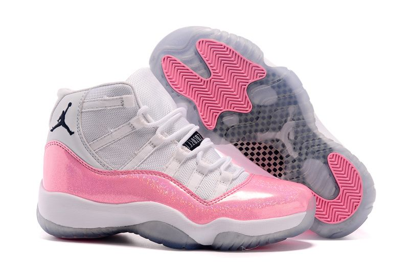 womens air jordan xi 11 retro 2015 pink & white basketball tournament
