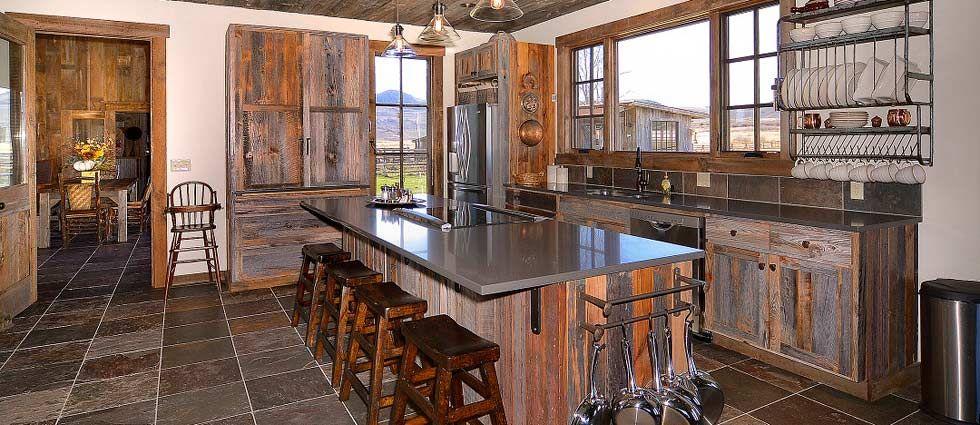 Image result for barnwood kitchens | Wood kitchen, Wood ...