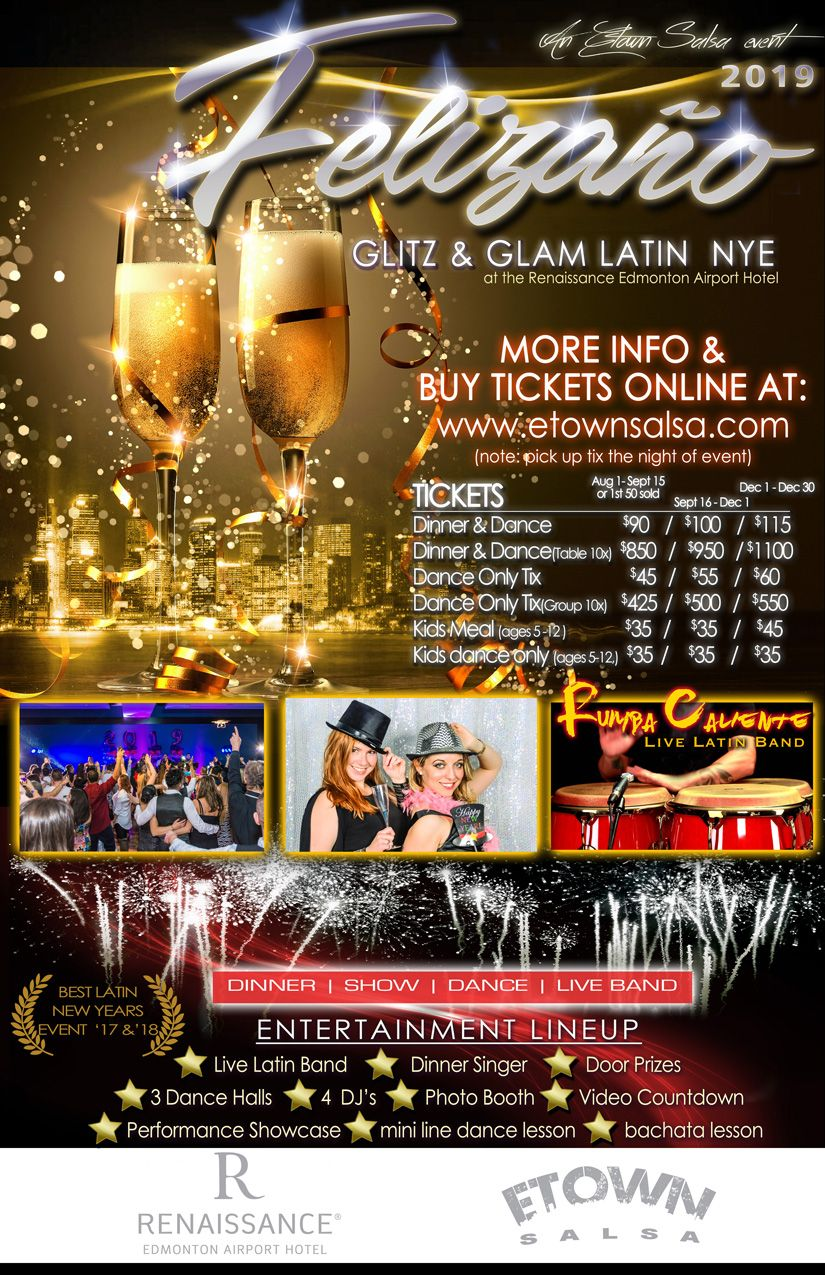 NYE Felizaño Glitz and Glam Latin New Years Eve WHERE