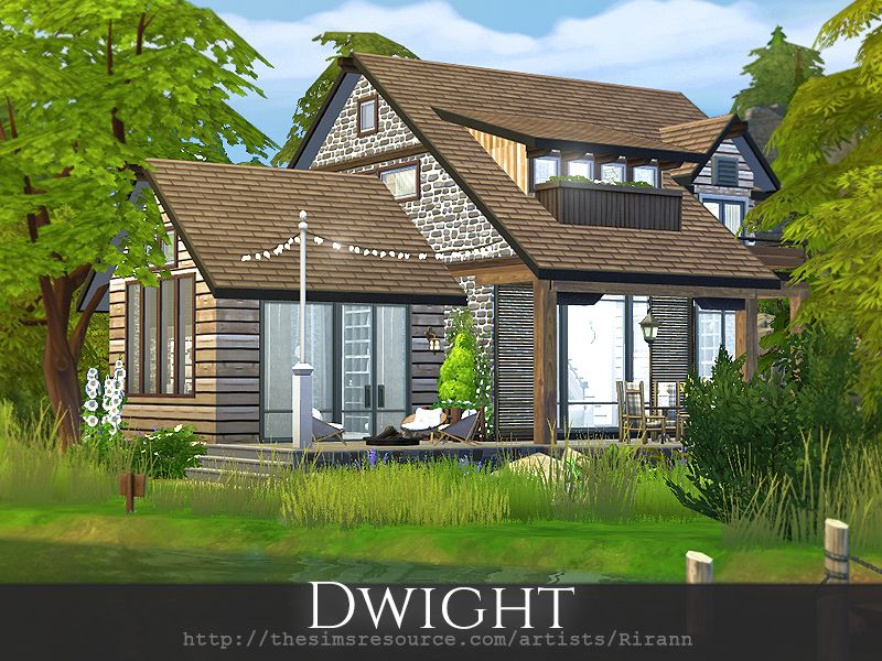 Dwight Is A Cozy Cottage For Small Or Middle Sim Family Found In Tsr Category Sims 4 Residential Lots Sims House Sims 4 Loft Sims