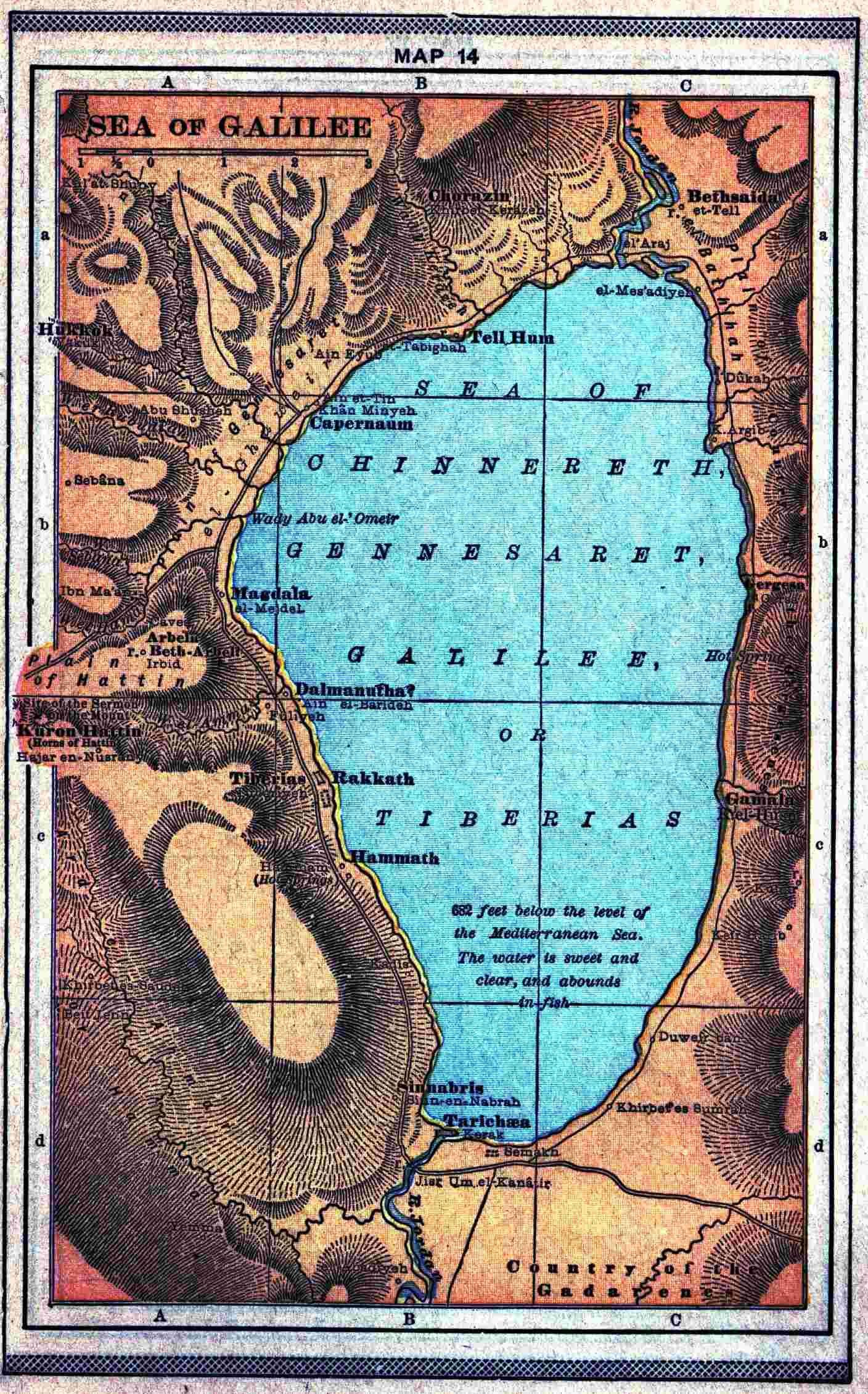Sea of Galilee Map