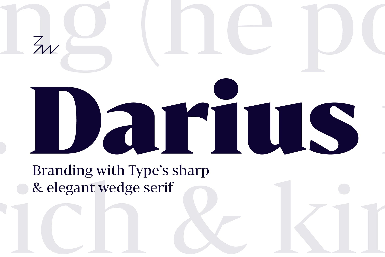 Bw Darius font family #contrast, #opulent, #luxury