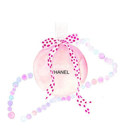 CHANEL Perfume fashion illustration Framed Art Print by Koma Art | Society6