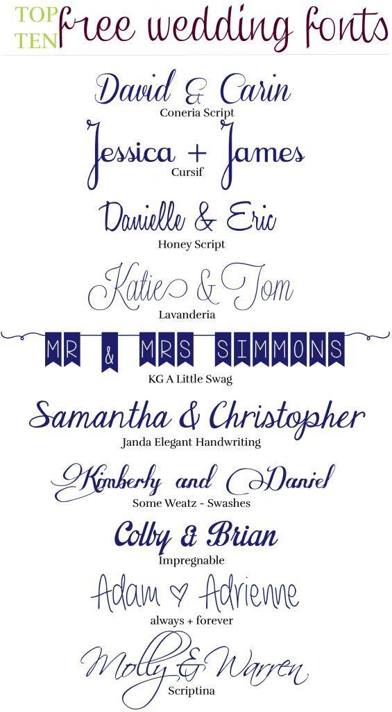 10 Free Wedding Fonts | The Event Crashers | Fonts | Pinterest ...