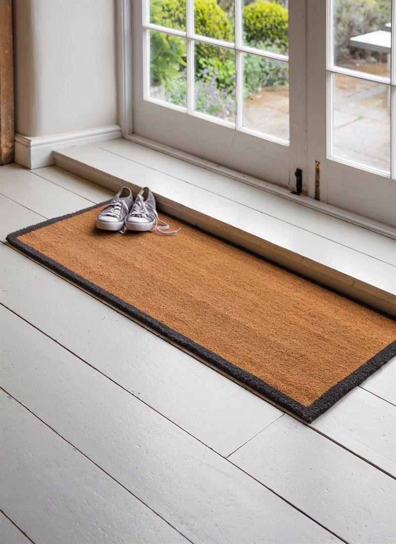 Double Doormat With Charcoal Border Coir Garden Trading Double Doormat Door Mat Indoor Door Mats