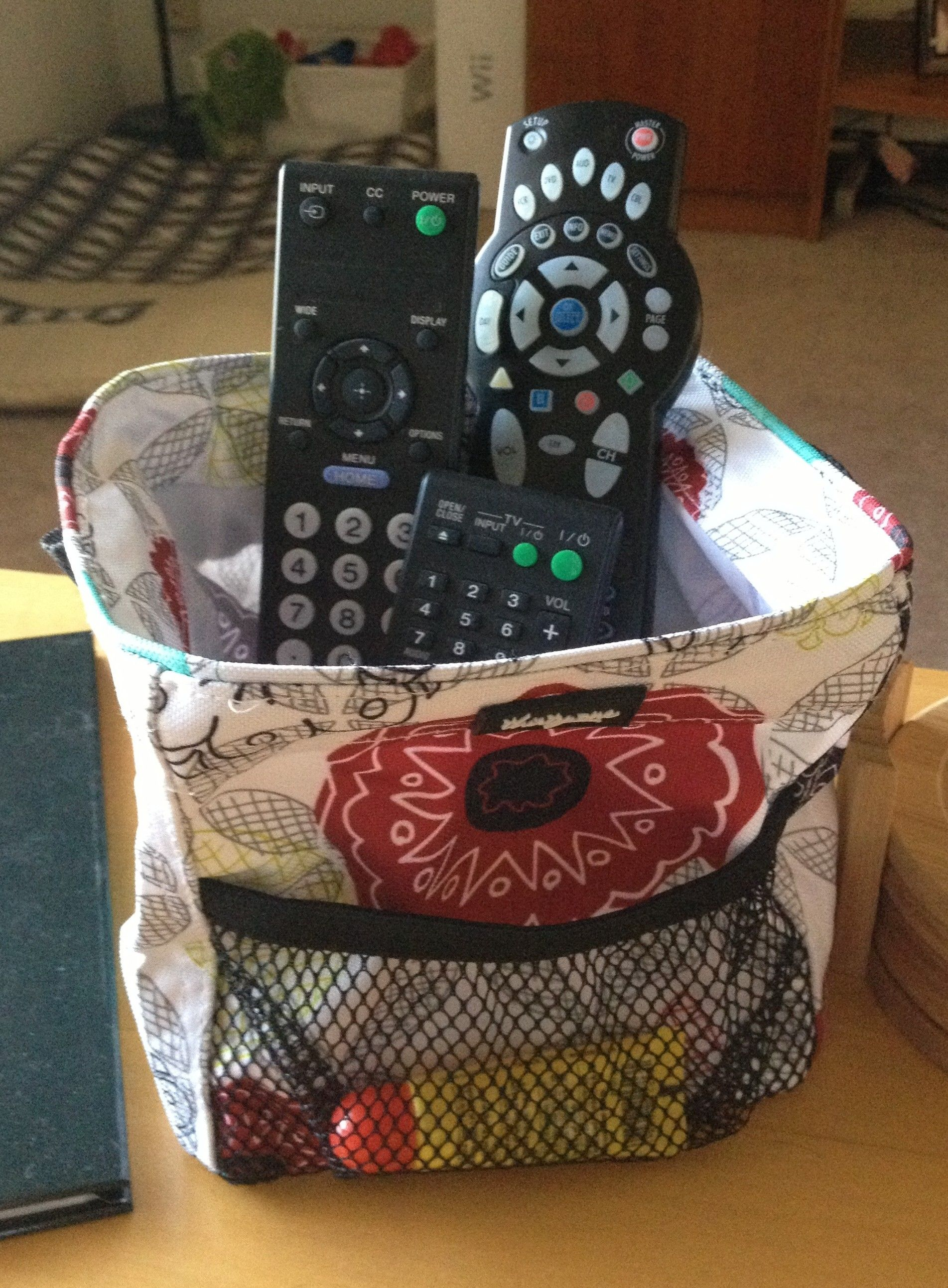 Remote Control Holder On The Coffee Table Thirty One Little Carry All Caddy