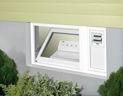 One Of A Kind Basement Window With Dryer Vent By Ideal Window Basement Windows Window Installation Windows