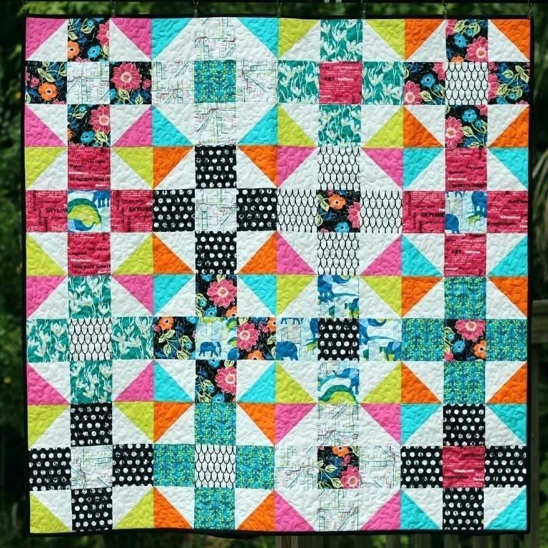 Scrappy 4 Patch Quilt Patterns Mod Nine Patch Quilt A Free Fat ... : 4 patch quilt patterns free - Adamdwight.com
