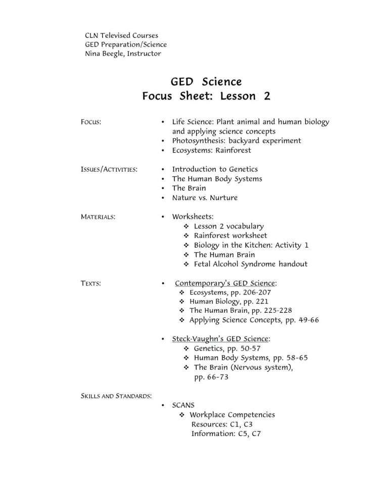 10 Ged Science Practice Worksheet Science Practices Practices Worksheets Math Practice Test