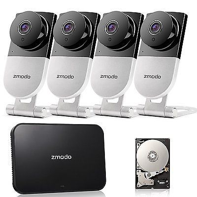 Zmodo 4 CH NVR Wireless Audio Indoor Home Video Security