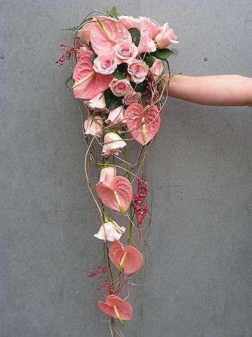 Bouquet Sposa Pendente.Bouquet Da Sposa Con Anthurium Bouquet Floreali Bouquet Da