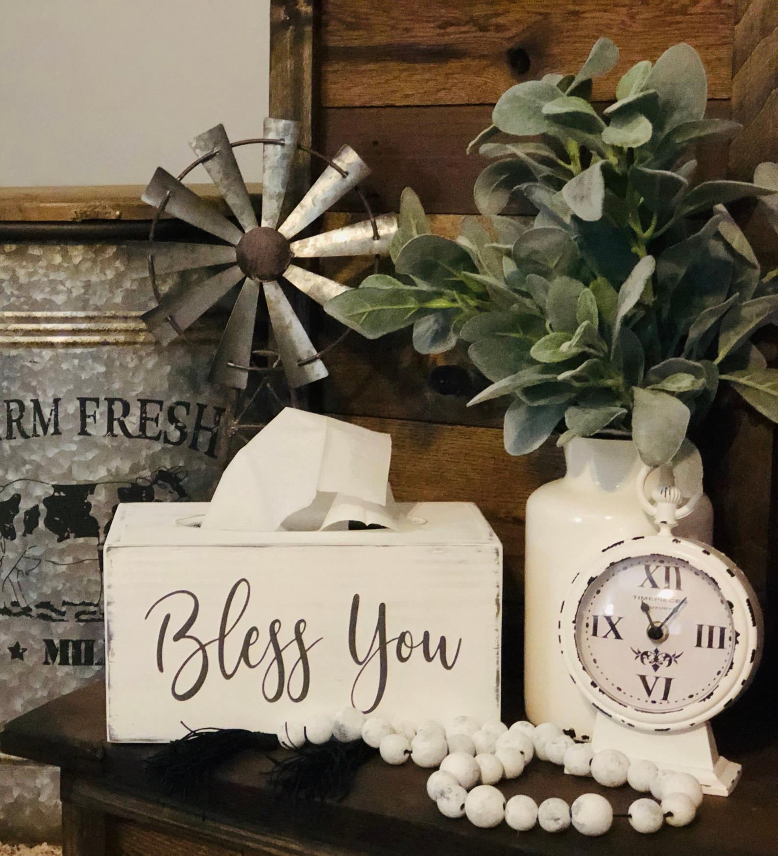 Perfect Farmhouse Style Tissue Box Wonderful