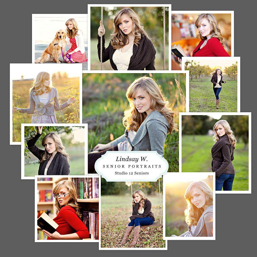 Scrapbook ideas multiple pictures - Sr Portrait Scrapbook Layout