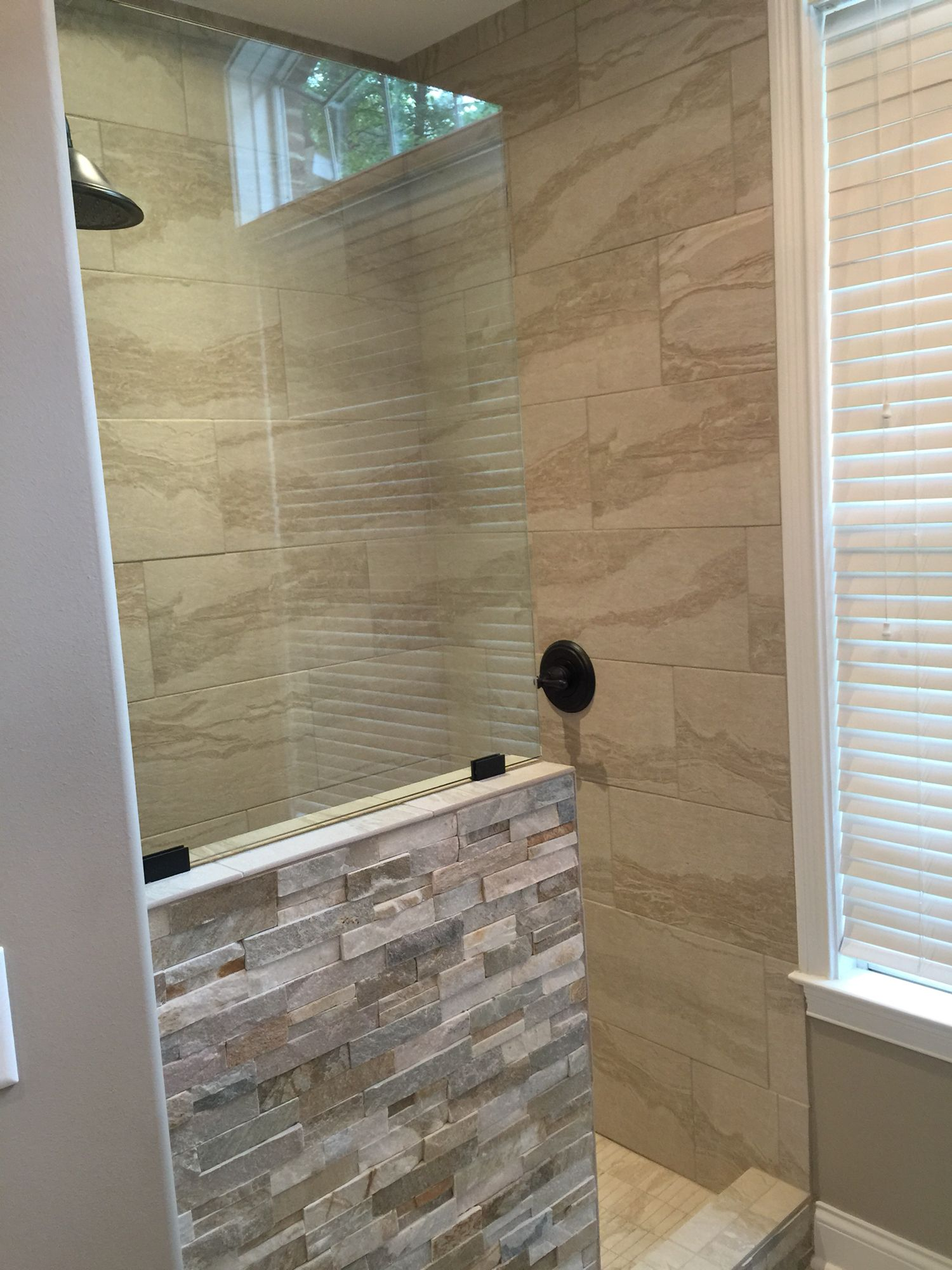 Walk in shower no door | Shower remodel, Small bathroom remodel