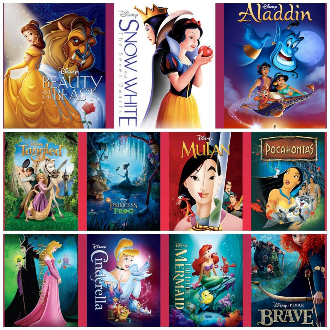 All of The Disney Princess Movies are out of the Vault ...