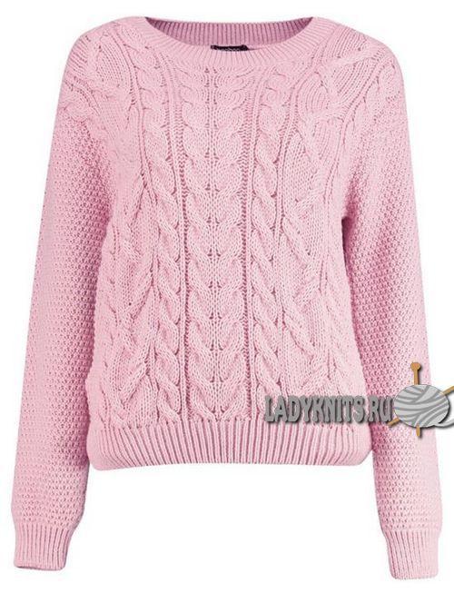 модные вязаные свитера с косами аранами основные тенденции сезона