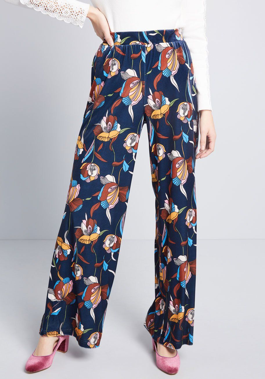 8203231abe3 Certainly Swanky Wide-Leg Velvet Pants - Hit the town lookin  chic with  these