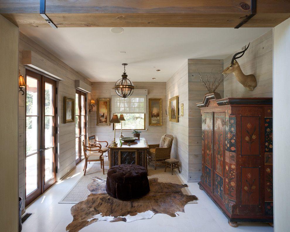 Cowhide Rug Home Office Traditional With Animal Hide Rugs Area Rug Arm Chairs Rustic Office Design Traditional Home Office Home