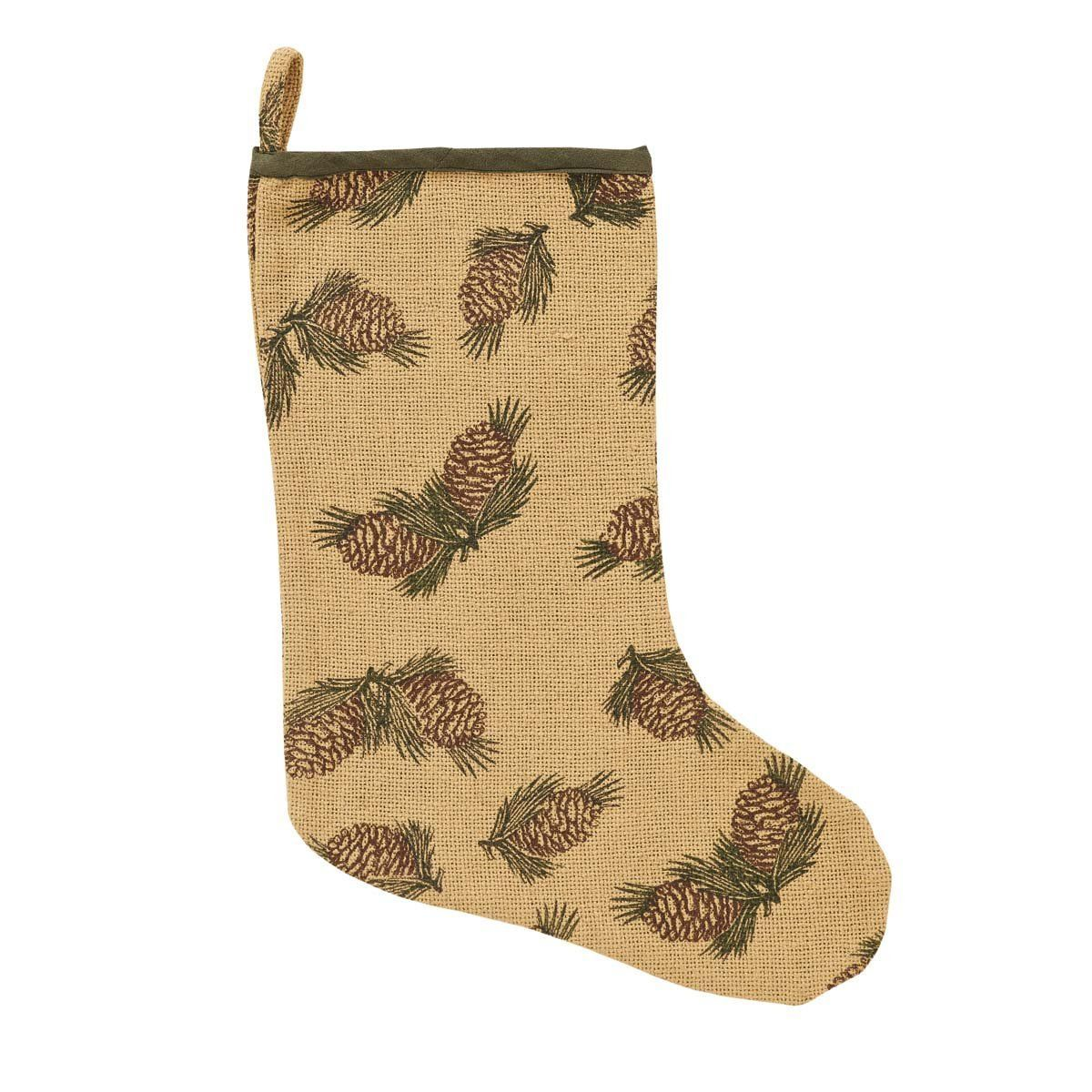 Pine cone stocking farmhouse home decor pinterest pine cone