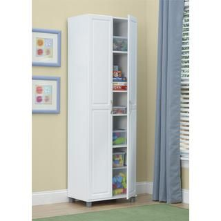 System Build White Kendall 24 Inch Storage Cabinet By Ameriwood Home