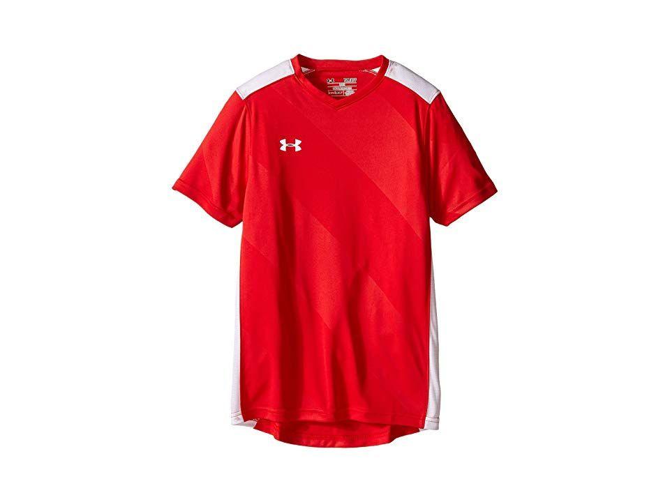 e5a68c29d78 Under Armour Kids UA Fixture Jersey (Big Kids) (Red) Boy s Short Sleeve