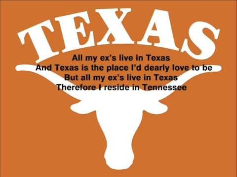 George Stait All My Ex S Live In Texas George Strait My
