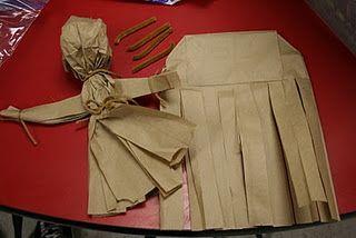 paper bag corn husk doll